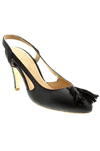 atelier et do et sapato escarpins femme de couleur noir