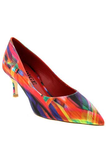 adige chaussures femme de couleur rouge
