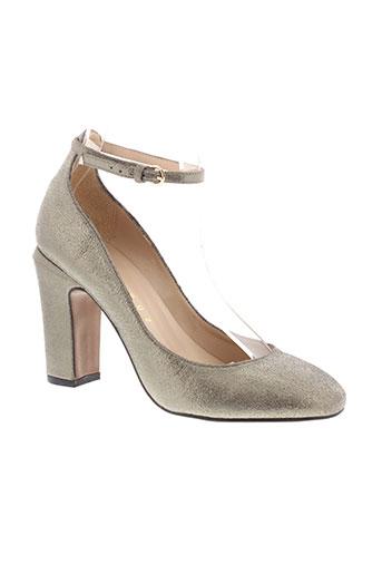 lola cruz chaussures femme de couleur gris