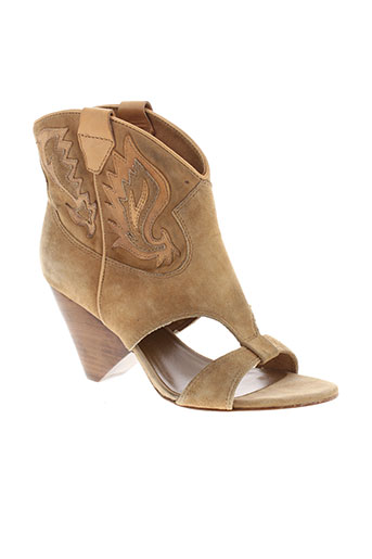 ash sandales et nu et pieds femme de couleur beige
