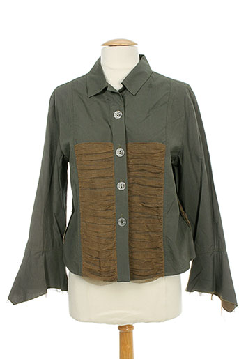 garella chemises femme de couleur vert