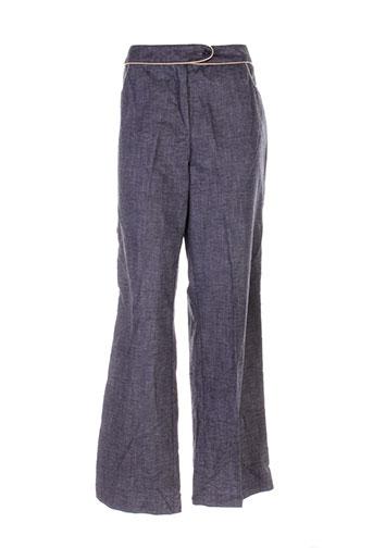 caroline biss pantalons femme de couleur gris