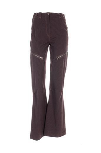 garella pantalons femme de couleur marron