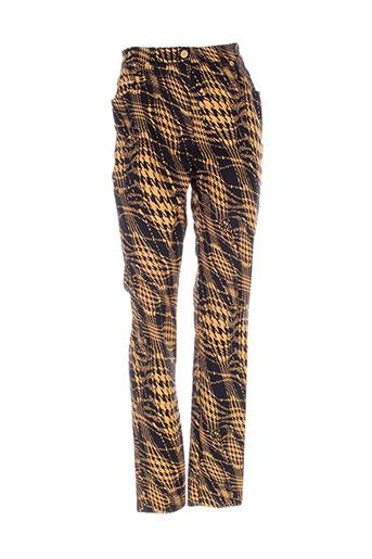 dino valiano pantalons femme de couleur noir