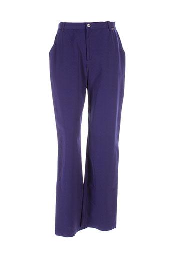 montana pantalons femme de couleur bleu