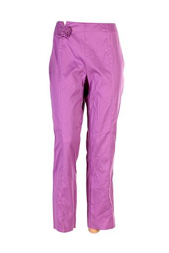 caroline biss pantalons femme de couleur violet
