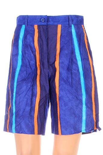 dino valiano shorts / bermudas femme de couleur bleu