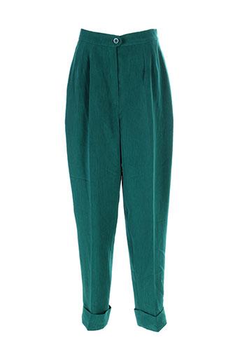 lenvol pantalons femme de couleur vert