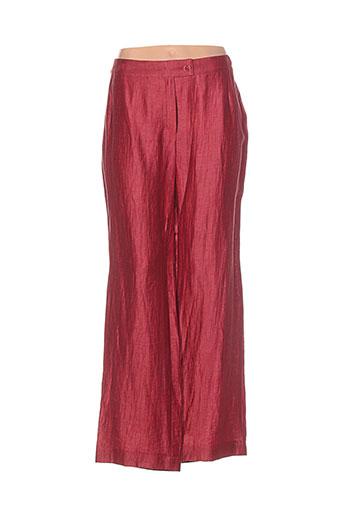 isabell pantalons femme de couleur rouge
