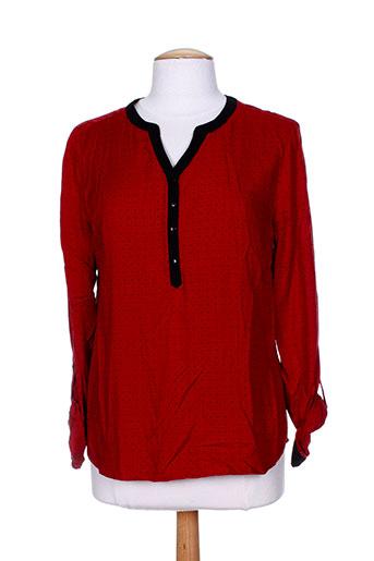 diane laury chemises femme de couleur rouge