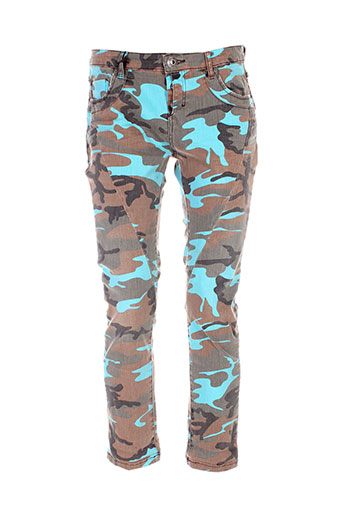 heartless jeans pantalons femme de couleur bleu