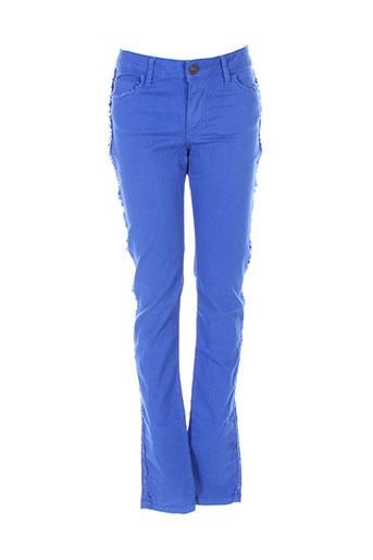 bel air pantalons femme de couleur bleu