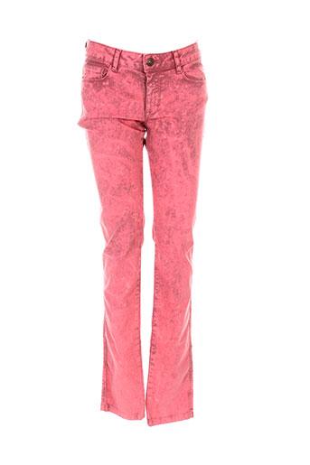 bel air pantalons femme de couleur rouge
