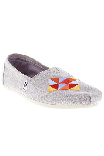 toms chaussures femme de couleur gris