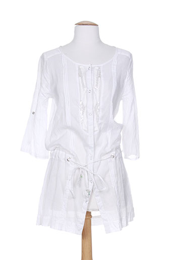 not the same chemises femme de couleur blanc