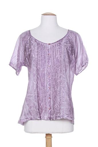 not the same chemises femme de couleur violet