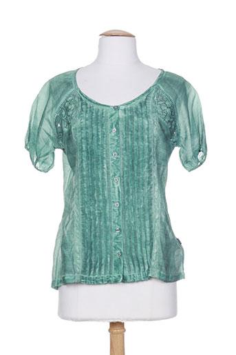 not the same chemises femme de couleur bleu