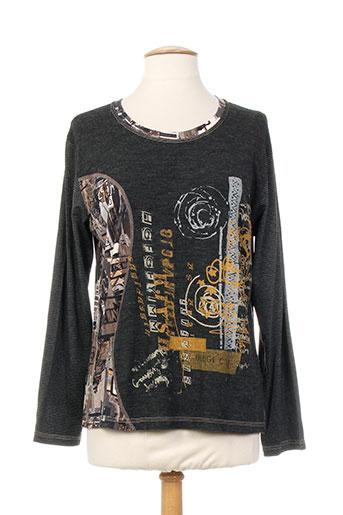 T-shirt manches longues gris JEAN DELFIN pour femme