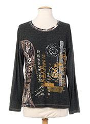 T-shirt manches longues gris JEAN DELFIN pour femme seconde vue