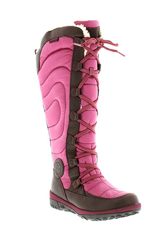 timberland bottes femme de couleur rose