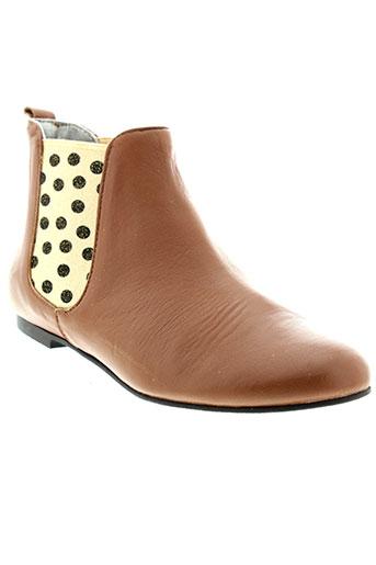 ippon et vintage boots femme de couleur marron