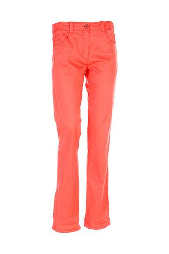 emmanueli pantalons femme de couleur orange