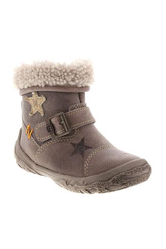 noel boots fille de couleur marron