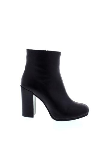 unisa bottines femme de couleur noir