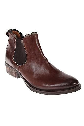 little et bisous boots femme de couleur marron