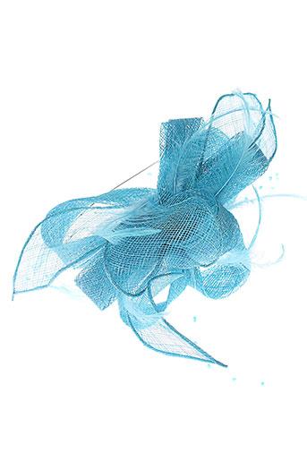 camalya chapeaux et bonnets femme de couleur bleu