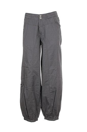 bohemia pantalons femme de couleur gris