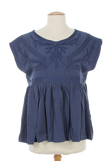 bohemia chemises femme de couleur bleu