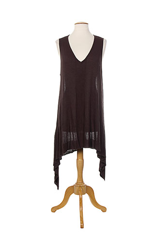 Pull tunique marron BOHEMIA pour femme