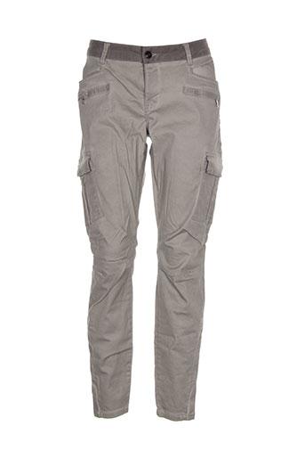 yaya pantalons femme de couleur beige