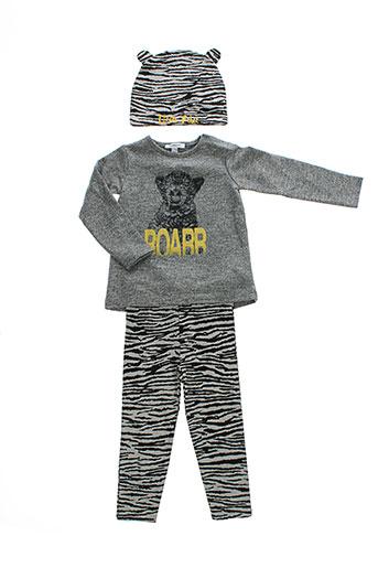 3 et pommes t et shirt et pantalon enfant de couleur gris (photo)