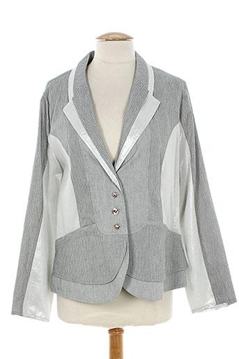 jean gabriel vestes femme de couleur gris