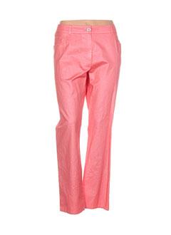Pantalon casual rose PAUSE CAFE pour femme