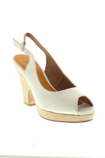 marco tozzi chaussures femme de couleur blanc