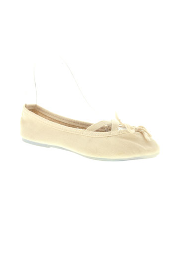 the french touch chaussures femme de couleur beige