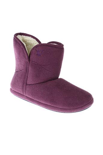 la et fiancee et d et arthur chaussons femme de couleur violet