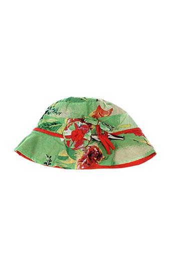 eliane et et et lena chapeaux et bonnets fille de couleur vert