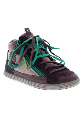 kickers chaussures garçon de couleur marron