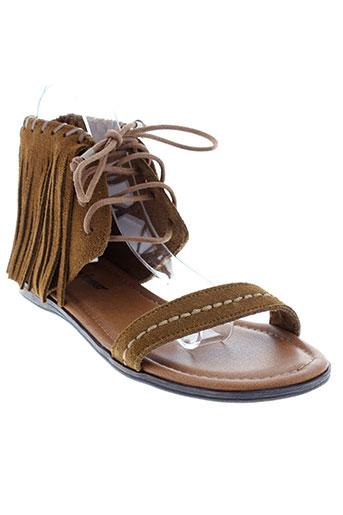 minnetonka sandales et nu et pieds femme de couleur marron