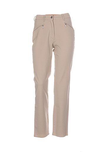 zaffiri pantalons femme de couleur beige