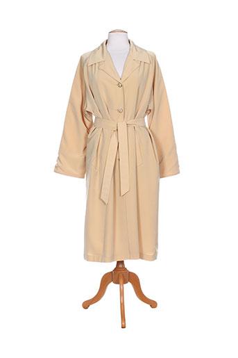 claude havrey manteaux femme de couleur beige