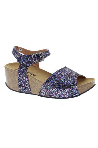 plakton sandales et nu et pieds femme de couleur violet