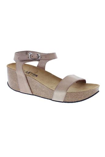 plakton sandales et nu et pieds femme de couleur beige