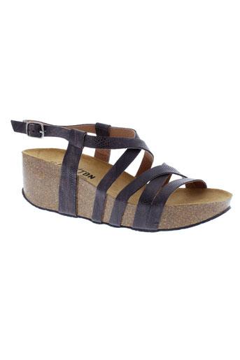 plakton sandales et nu et pieds femme de couleur marron