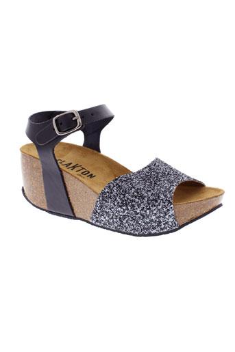 plakton chaussures femme de couleur noir