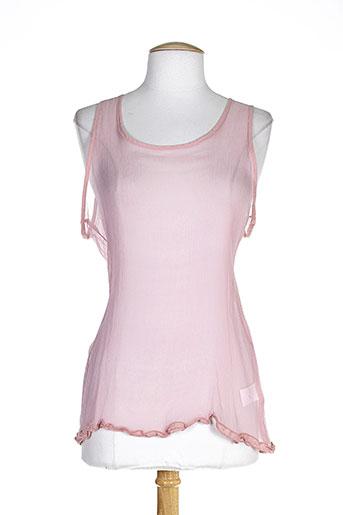 lauren vidal chemises femme de couleur rose